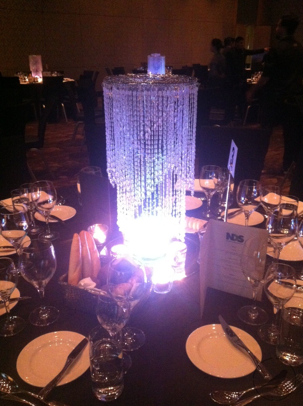Crystal Centrepiece With Led Bespokesocial