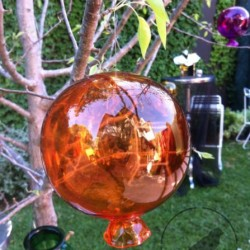 orange glass hanging