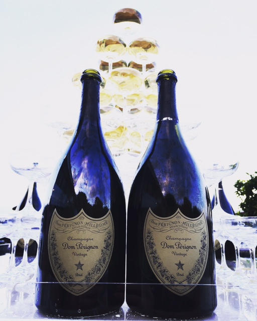 Two bottles of expensive champagne